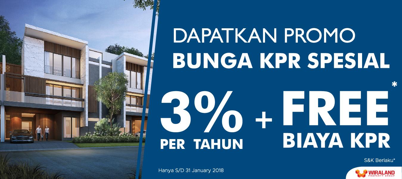 Wiraland Persembahkan Bunga KPR 3% di Awal Tahun 2018!
