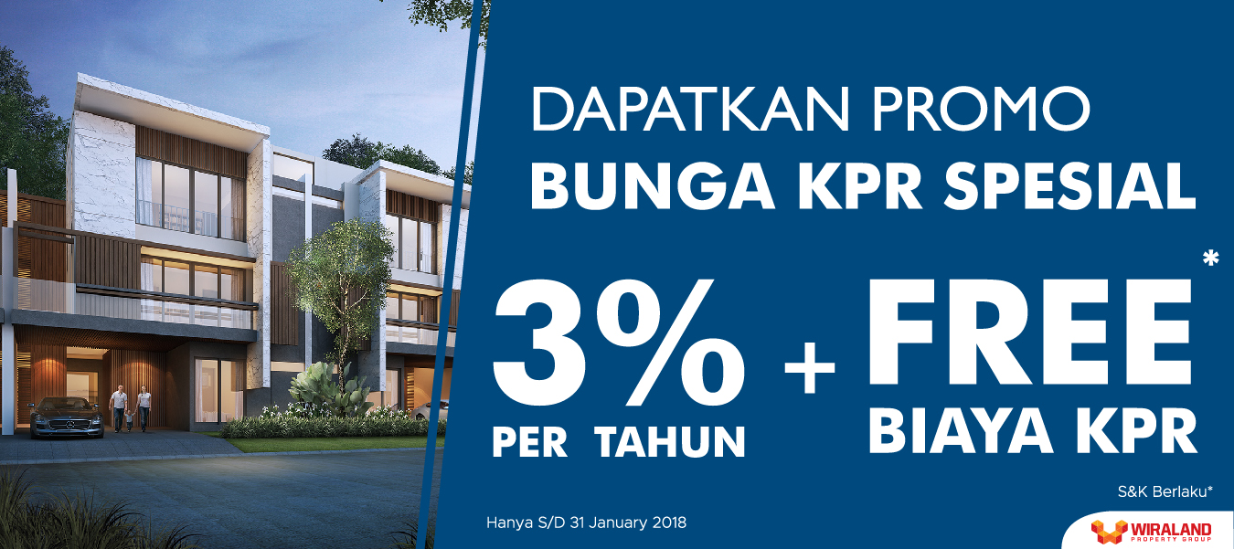 Sambut 2018, Wiraland Persembahkan Bunga KPR 3%!