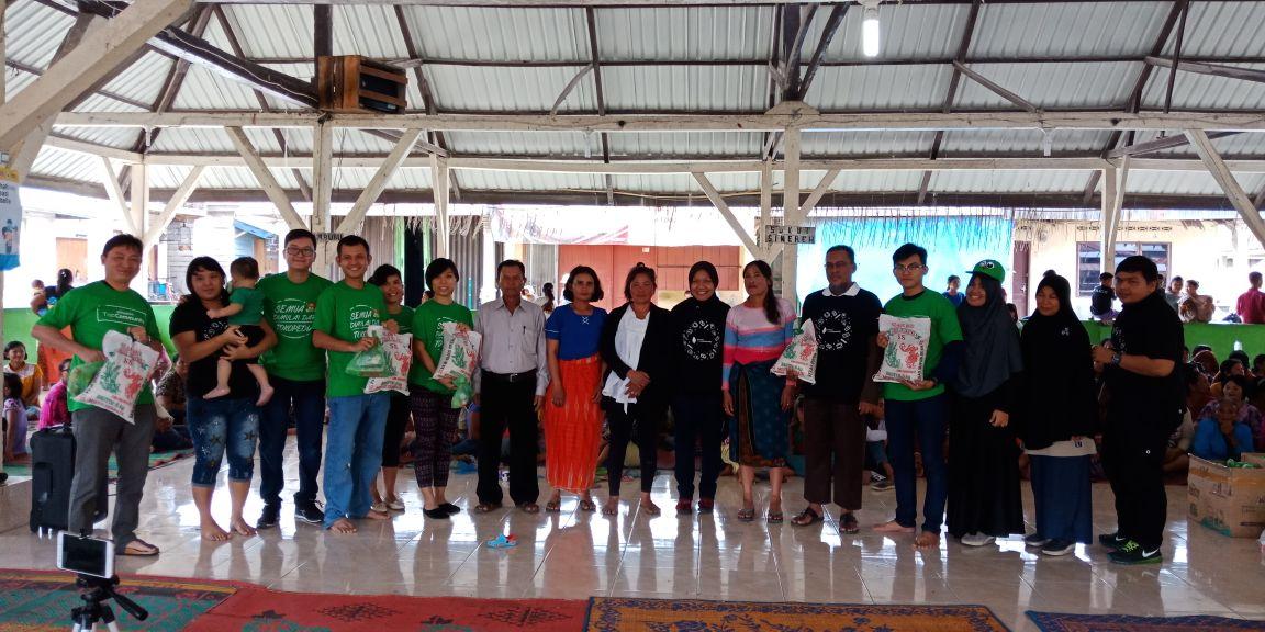 Komunitas Olshop Medan Beri Bantuan ke 500 KK di Sinabung