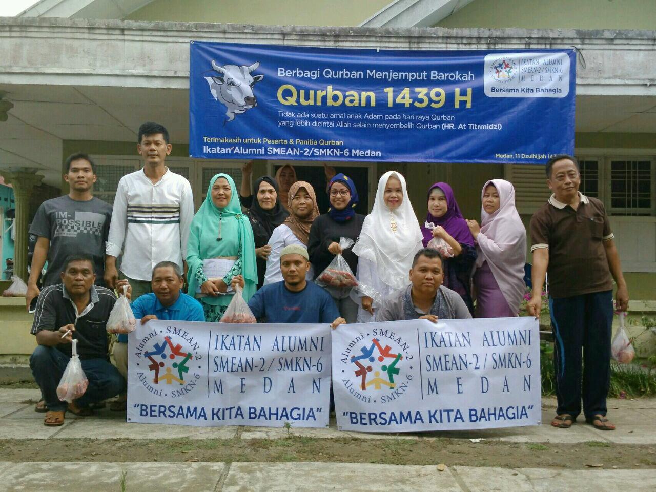 Ikatan Alumni SMEAN2/SMKN6 Medan Rutin Gelar Pelaksanaan Qurban 1439H