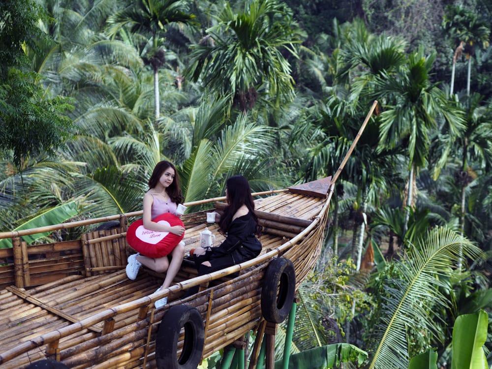 Gratis Biaya Masuk, Wisata Spot Selfie Terbesar di Medan Diserbu Pengunjung