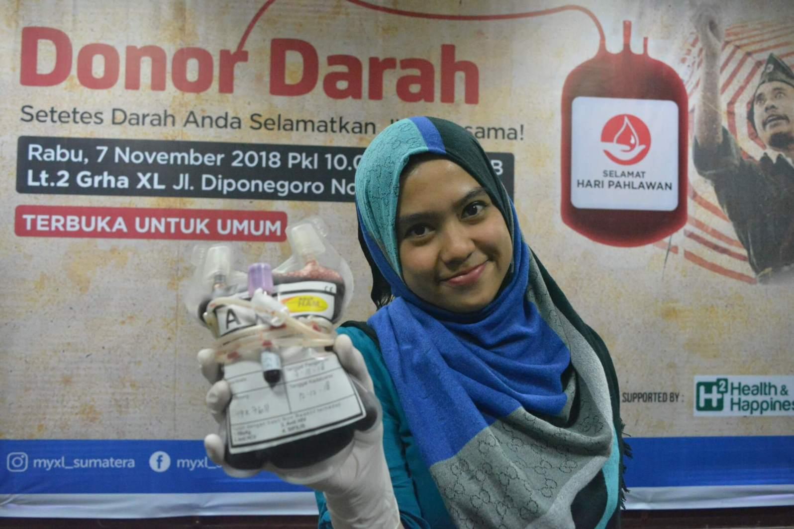 XL Gelar Donor Darah Sambut Hari Pahlawan
