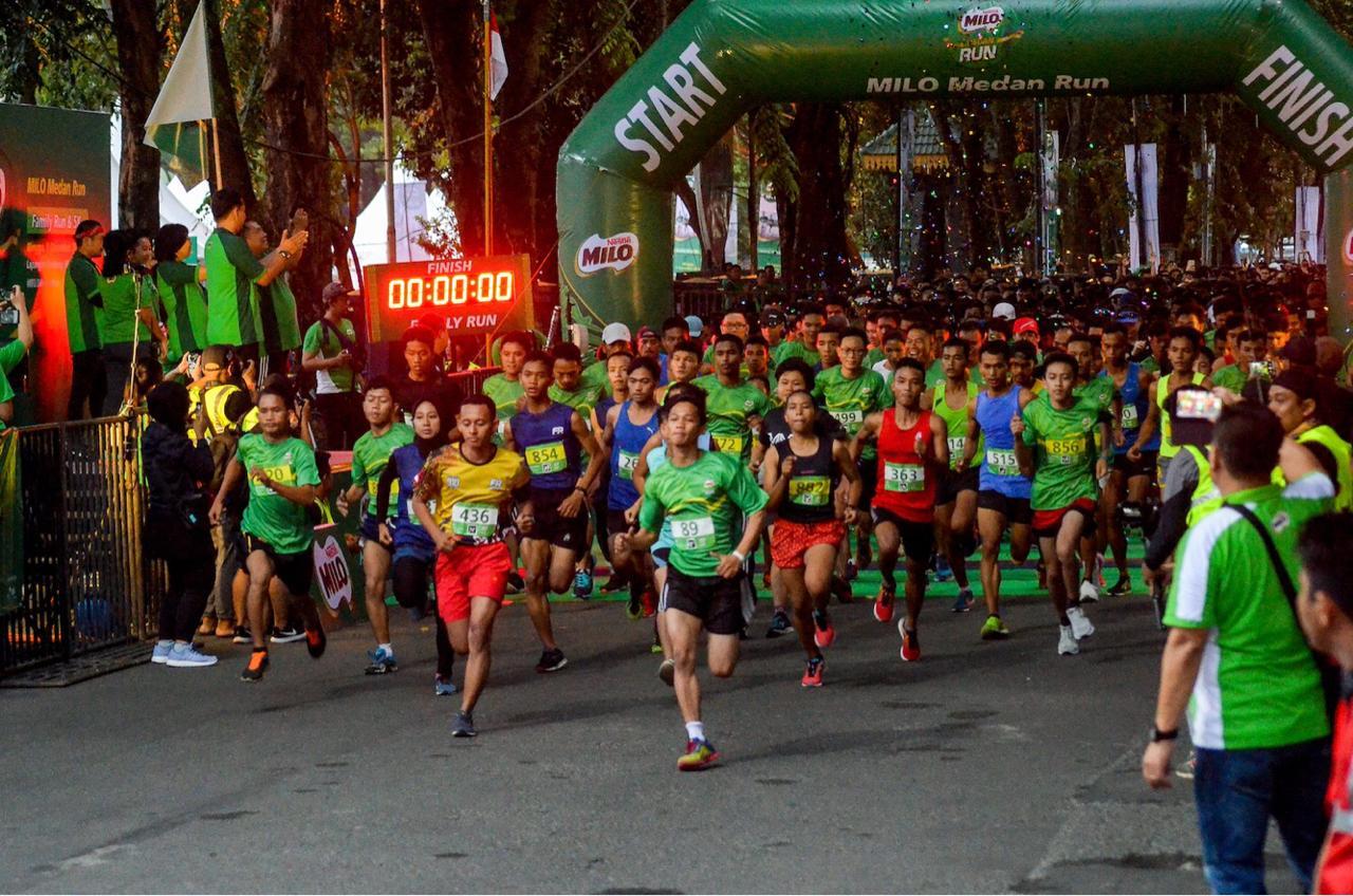 Pemenang Kategori 5K Nasional Putri Pecahkan Rekor Waktu Terbaik Individu di MILO Medan Run