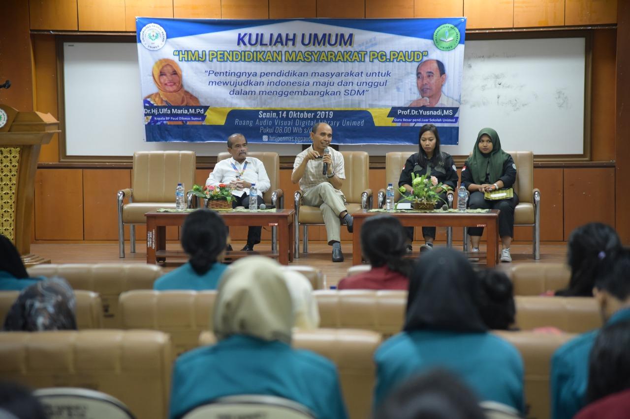 HMJ Penmas Gelar Kuliah Umum Pendidikan Masyarakat di Era 4.0