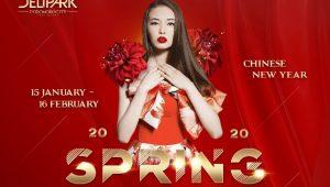 """Rayakan Imlek Perdana, Delipark Hadirkan Suasana Musim Semi Di """"Spring Luminosity"""" Selama 1 Bulan"""