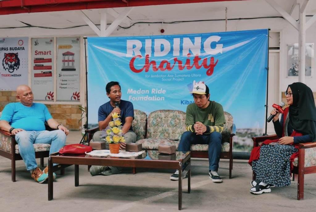 Riding Charity Talkshow Kibarkan Asa, Atmaka, TWBW, Aas, Telkom Medan, Sudarto