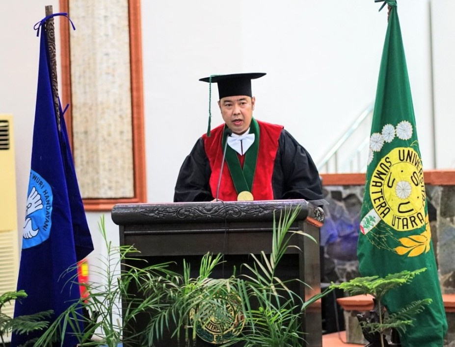 Prof Dr dr Farhat Dikukuhkan Sebagai Guru Besar Tetap USU