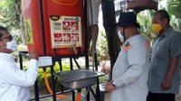 Dinas Kebersihan Medan Sediakan Fasilitas Cuci Tangan di Warkop Jurnalis Peliput Covid-19