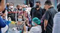 104 Pedagang Pasar Sei Sikambing Ikuti Vaksinasi