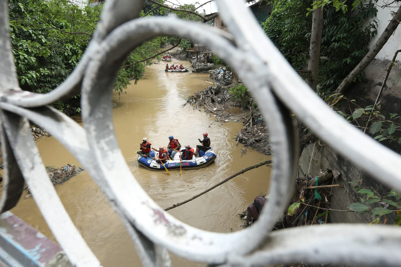 Aksi Bersih Sungai Babura dan Uji Coba Trip Wisata Arung Sungai Babura