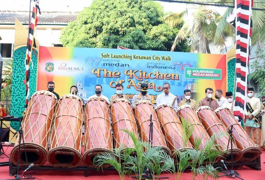 Wali Kota Medan Launching Kesawan City Walk